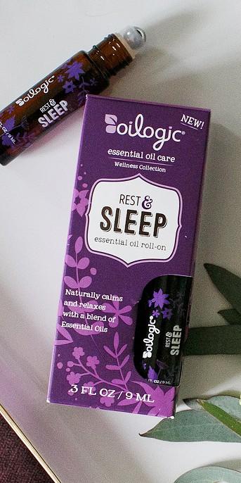 Oilogic Rest & Sleep Aid Lavender & Eucalyptus Aromatherapy Essential Oil Roll-On - 0.3oz