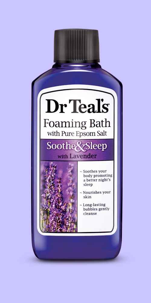 Dr Teal's Pure Epsom Salt Soothe & Sleep Lavender Foaming Bath - 34 fl oz