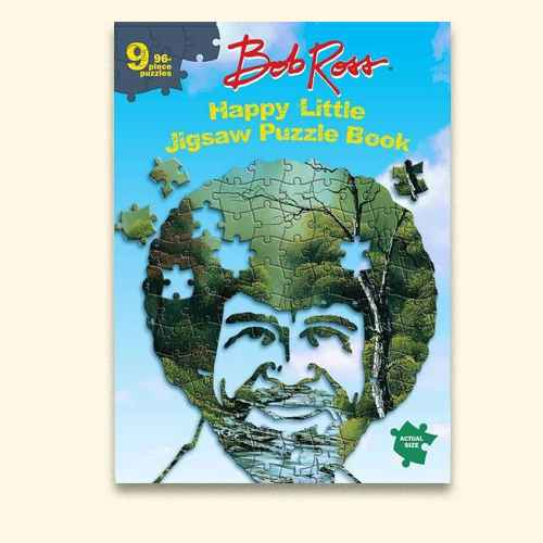 Bob Ross Happy Little Jigsaw Puzzle Book - (Hardcover)