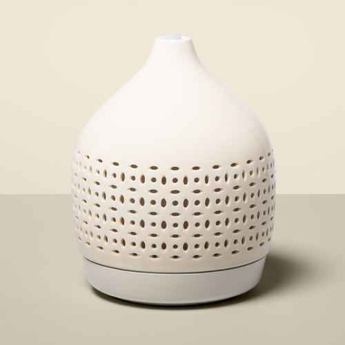 300ml Cutout Ceramic Color-Changing Oil Diffuser White - Opalhouse™