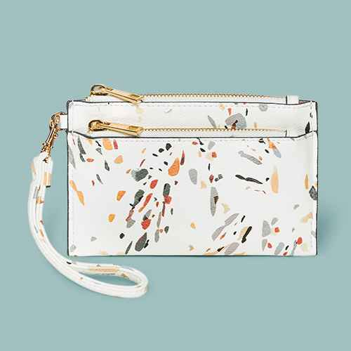 Double Zip Pouch Wristlet - A New Day™