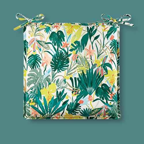 Opal Tropical Print Outdoor Seat Cushion DuraSeason Fabric™ White - Opalhouse™