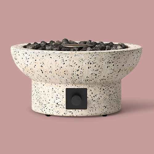 """13"""" Terrazzo Propane Tabletop Fireplace - Beige - Project 62™"""