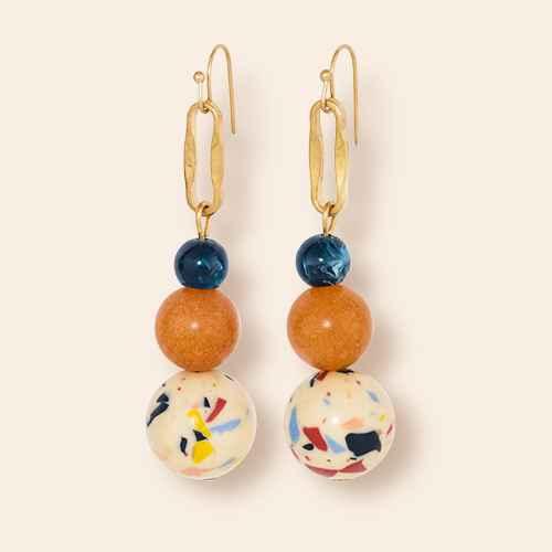 Semi Precious Drop Earrings - Universal Thread™