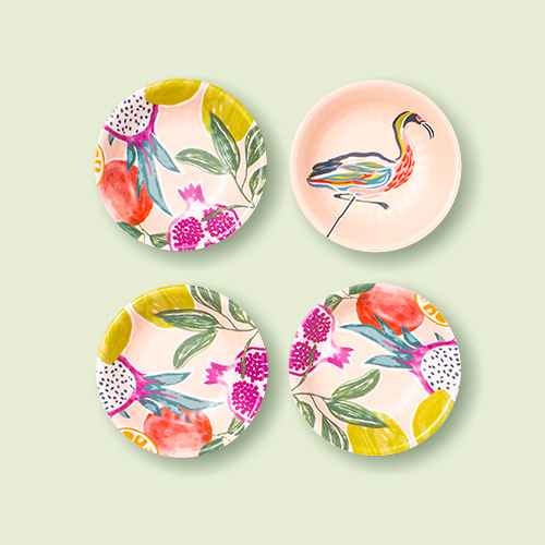 0.24oz 4pk Melamine Dip Bowls Pink - Opalhouse™