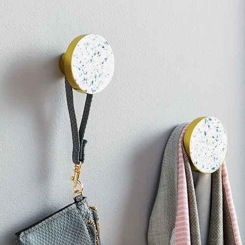 Set Of 3 Wall Hooks Light Gold - Project 62™