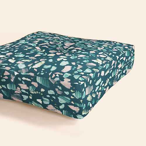 Pattern State Terrazzo Chalk Square Floor Pillow Blue - Deny Designs