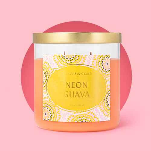 15.1oz Lidded Jar Neon Guava Candle - Opalhouse™