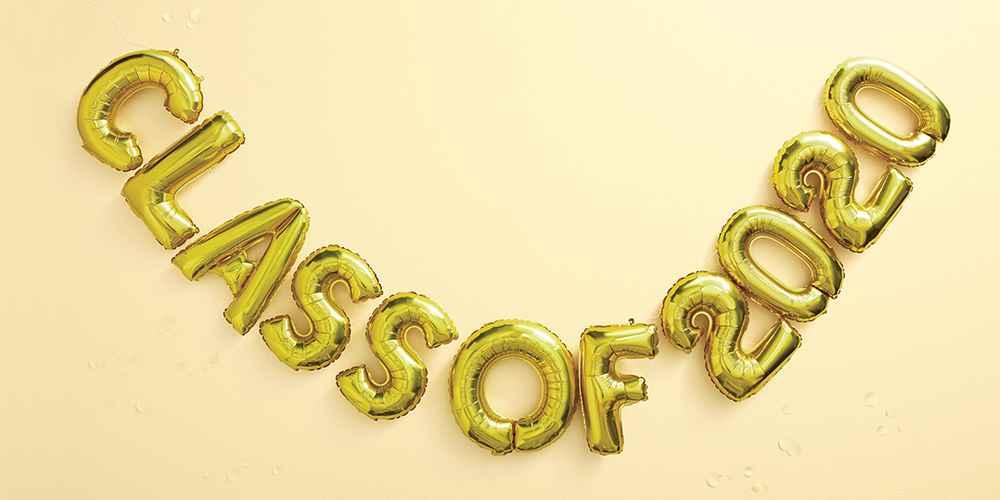 """""""Class of 2020"""" Graduation Foil Balloon Gold - Spritz™"""