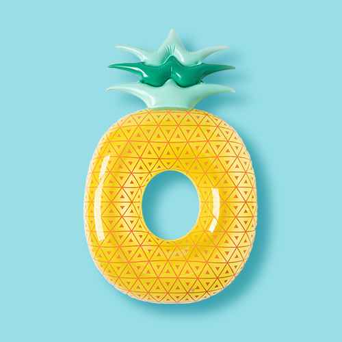 Pineapple Pool Float Yellow - Sun Squad™
