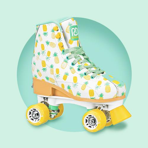 Roller Derby Candi Lucy Adjustable Girls' Roller Skates - White - Medium (3-6)