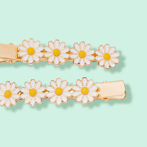 Daisy Charms Snap Clip Set 2pc - Wild Fable™ White