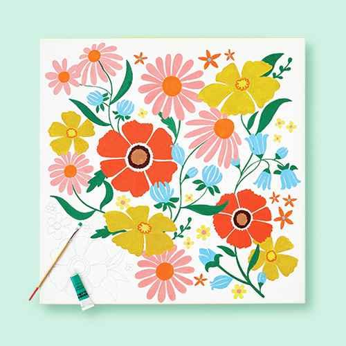 """20""""x20"""" Paint-Your-Own Canvas Kit Floral - Mondo Llama™"""