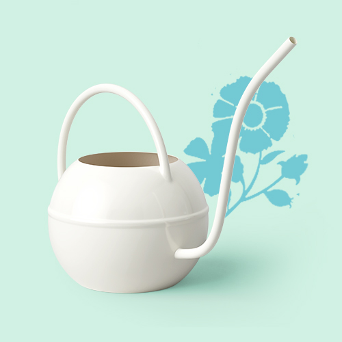 Small Steel Iron Watering Can Sour Cream White - Smith & Hawken™