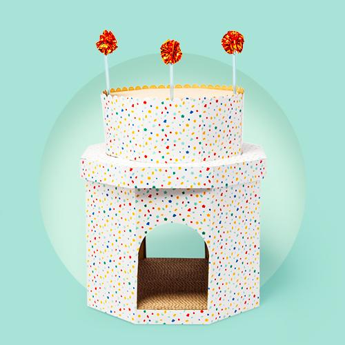 Double Decker Birthday Cake Cat Scratch House - Boots & Barkley™