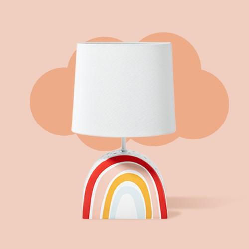 Rainbow Dual Light Lamp (Includes LED Light Bulb) Pink - Pillowfort™