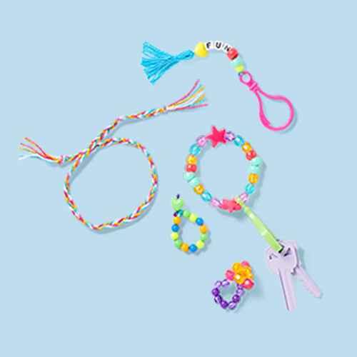 502pc String A Bling Jewelry Set - Mondo Llama™, 250ct Butterfly & Bloom Beads - Mondo Llama™, 5ct Jewelry Cord - Mondo Llama™, 200ct Plastic Heart Beads- Mondo Llama™, 250ct Alphabet Jewelry Beads - Mondo Llama™