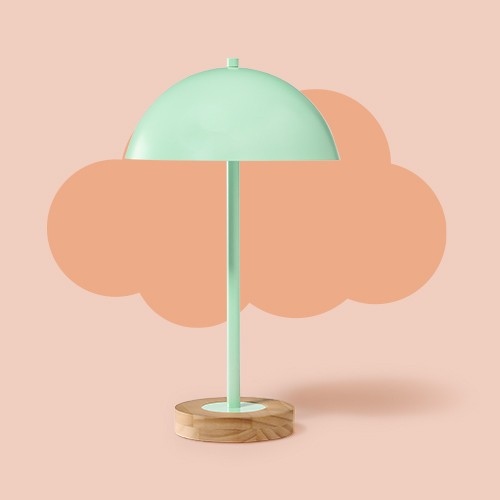 Dome Table Lamp Mint - Pillowfort™