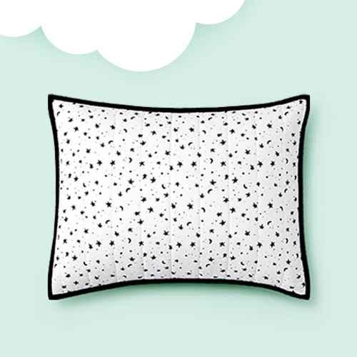 Star Cotton Sham Black - Pillowfort™
