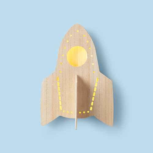 Rocket Wood Lit Wall Decor - Pillowfort™