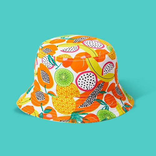 Kids' Bucket Hat Mixed Fruits - Sun Squad™