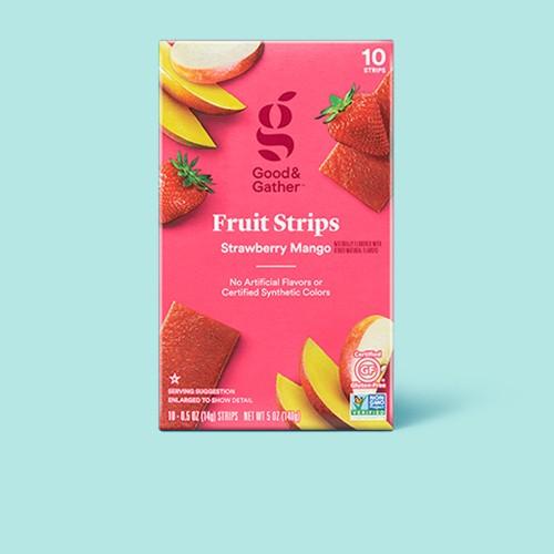 Strawberry Mango Fruit Strips - 5oz/10ct - Good & Gather™