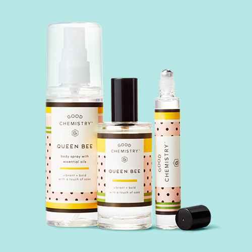 Queen Bee by Good Chemistry™ Women's Perfume, Queen Bee by Good Chemistry™ - Women's Body Spray - 4.25 fl oz, Queen Bee by Good Chemistry™ Women's Rollerball Perfume - 0.25 fl oz