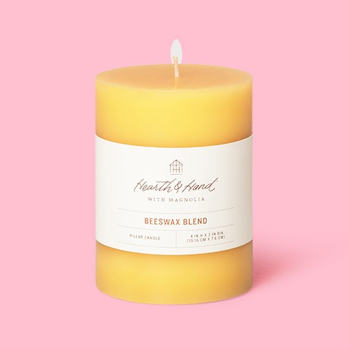 """3"""" x 4"""" Beeswax Blend Pillar Candle - Hearth & Hand™ with Magnolia"""