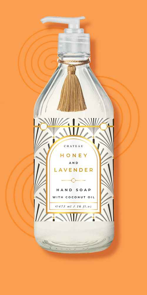 Chateau Hand Soap Honey and Lavender - 16 fl oz