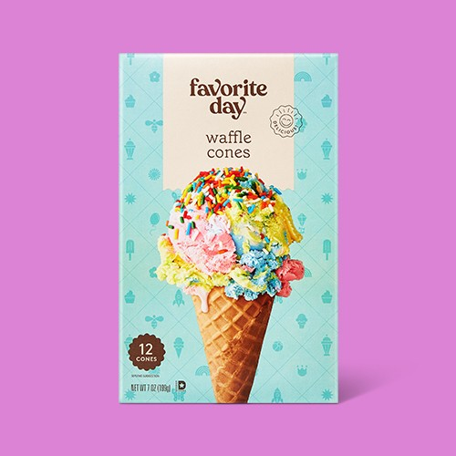 Waffle Cones - 12ct - Favorite Day™