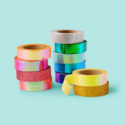 11pk Bright Glitter Washi Tape - Mondo Llama™