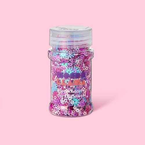 1oz Glitter Hearts, Stars & Flowers - Mondo Llama™