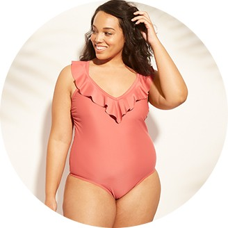 Solid One Piece Swimsuits
