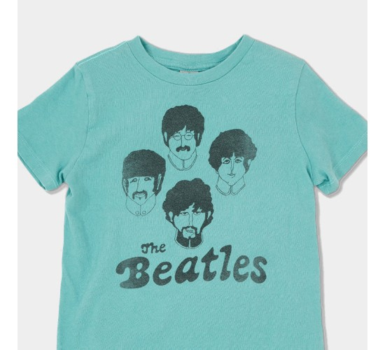 Junk Food Toddler Boys' The Beatles Short Sleeve T-shirt - Green
