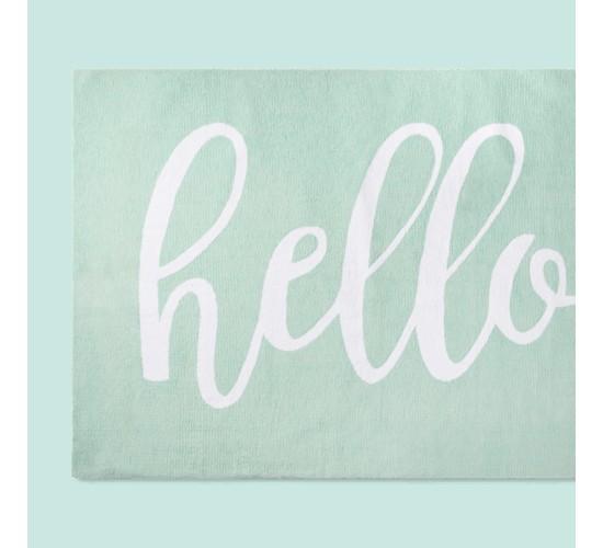 Micro Polyester Rug Hello - Cloud Island™ - Mint