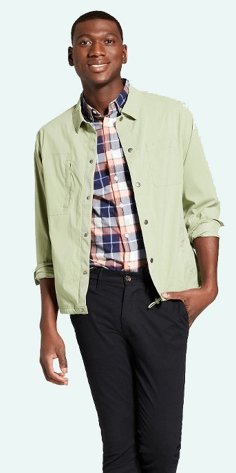 Men's Standard Fit Military Coach Jacket - Goodfellow & Co™