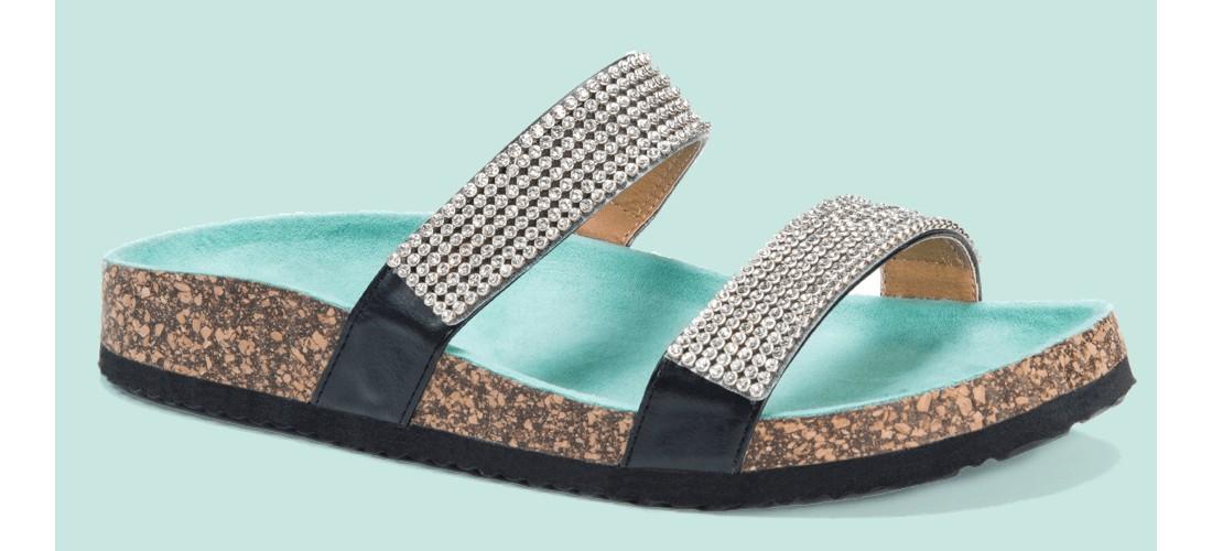 Women's MUK LUKS® Delilah Footbed Sandals - Green