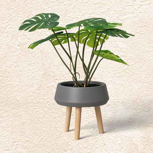Faux Monstera Floor Plant with Stand Green - Opalhouse™