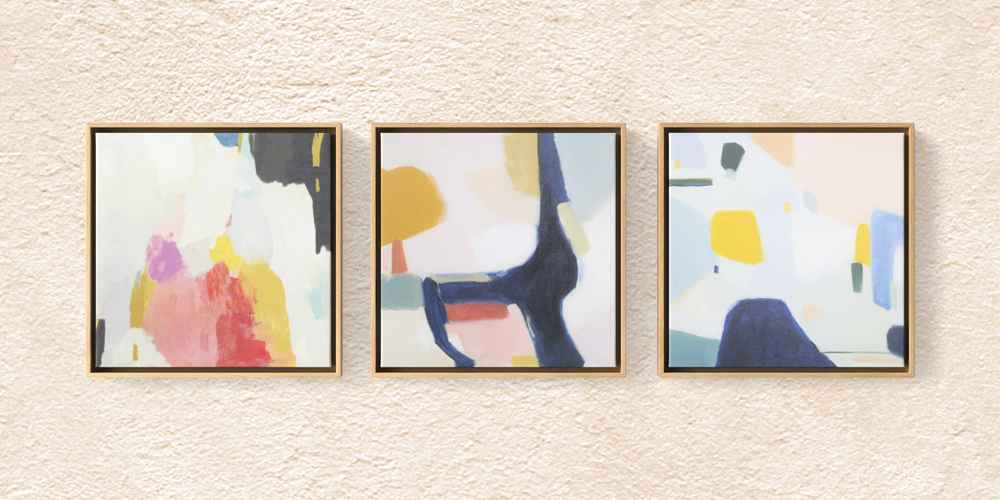 """(Set of 3) 12"""" x 12"""" Framed Canvas - Project 62™"""