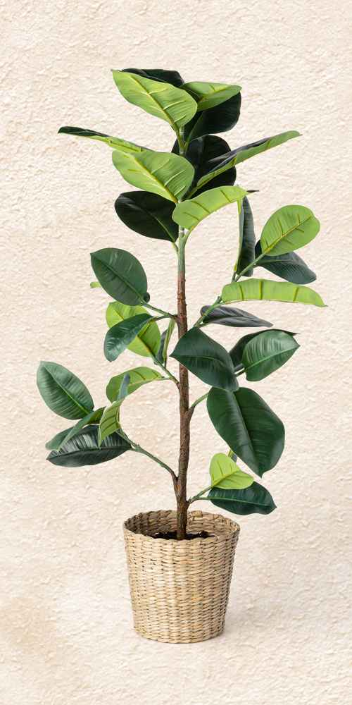 3.1' Artificial Rubber Leaf Tree in Pot Green - Threshold™