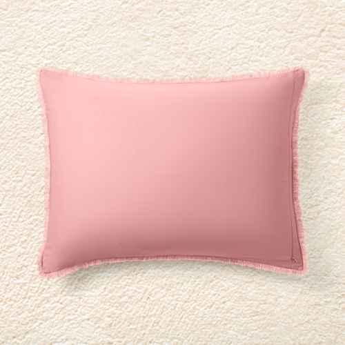 Full/Queen Heavyweight Linen Blend Comforter & Sham Set Rose - Casaluna™