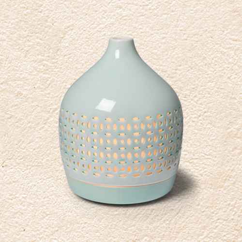 300ml Cutout Ceramic Color-Changing Oil Diffuser Aqua - Opalhouse™