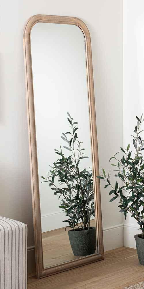 "24"" x 64"" Wood Floor Mirror - Threshold™ designed with Studio McGee"