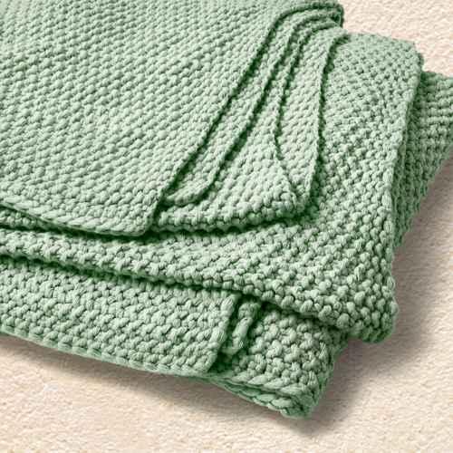 Full/Queen Chunky Knit Bed Blanket Sage Green - Casaluna™