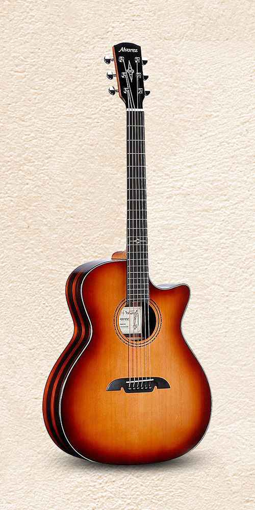 Alvarez AGE915CE Artist Elite Grand Auditorium Acoustic-Electric Guitar Shadow Burst
