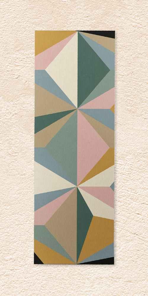 """Alisa Galitsyna Pastel Triangles (6mm) 24"""" x 70"""" Yoga Mat - Society6"""