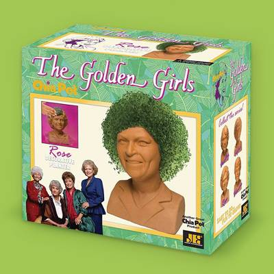 Golden Girls Chia Pet Rose Decorative Pottery Planter