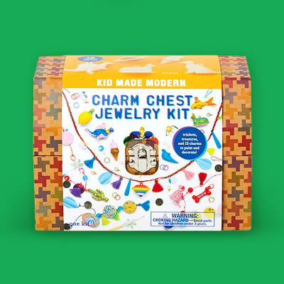 Kid Made Modern 205pc Charm Chest Jewelry Kit