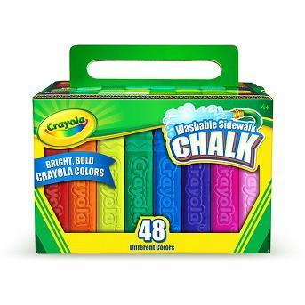 Crayola 48ct Washable Sidewalk Chalk Assorted Colors