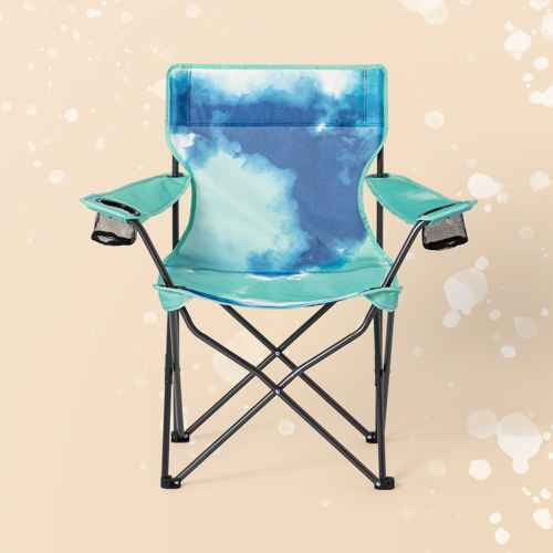 Adult Novelty Quad Chair Tie Die Teal - Sun Squad™